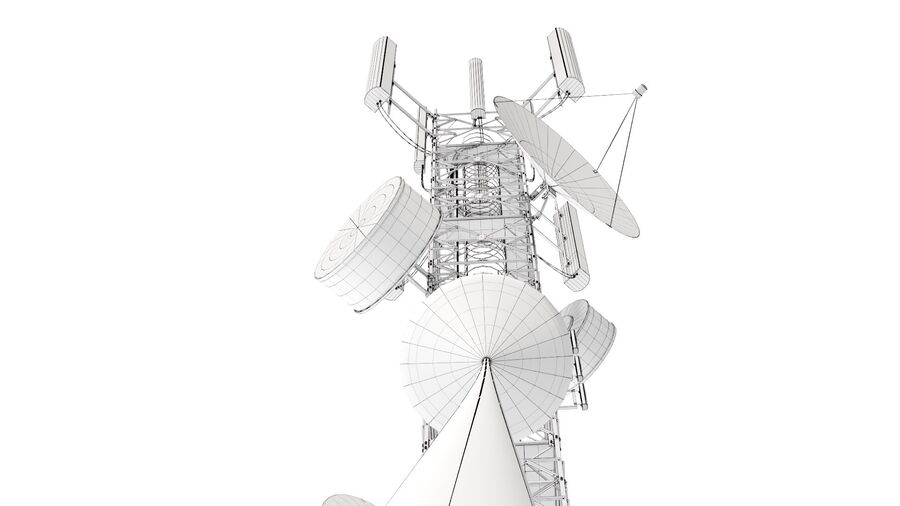 ラジオマスト-アンテナ通信塔 royalty-free 3d model - Preview no. 14