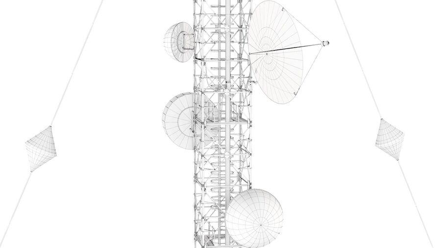 Radio Mast - Torre de Comunicação Antena royalty-free 3d model - Preview no. 16