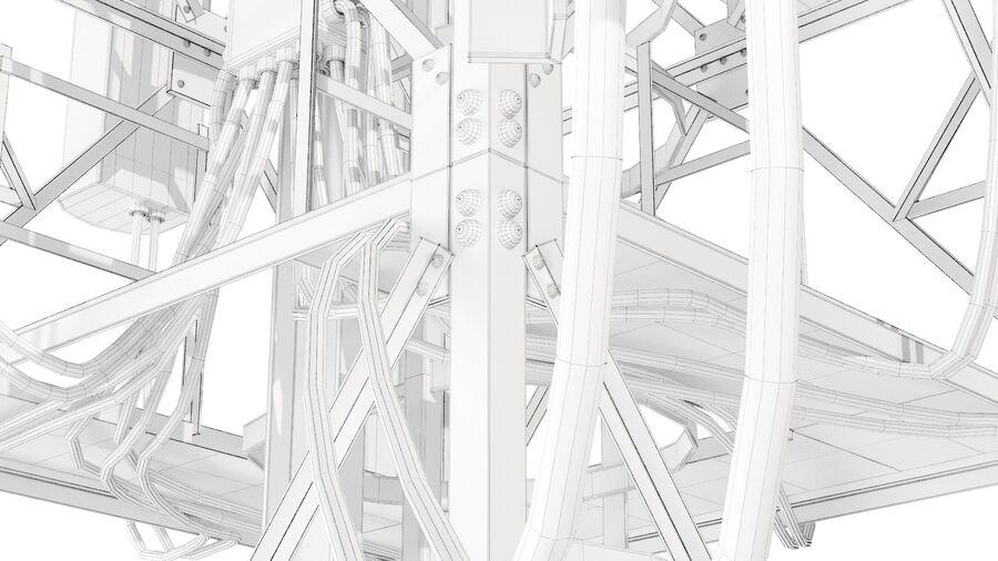 Radio Mast - Torre de Comunicação Antena royalty-free 3d model - Preview no. 15