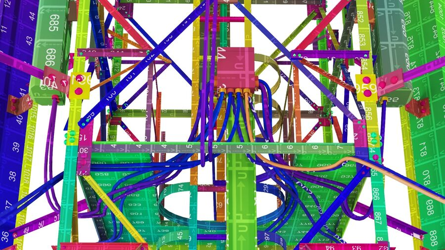 Radio Mast - Torre de Comunicação Antena royalty-free 3d model - Preview no. 31