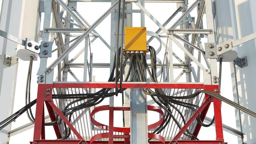Radio Mast - Torre de Comunicação Antena royalty-free 3d model - Preview no. 8