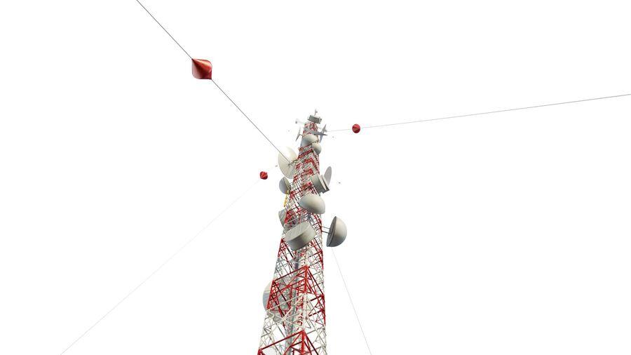 Radio Mast - Torre de Comunicação Antena royalty-free 3d model - Preview no. 2