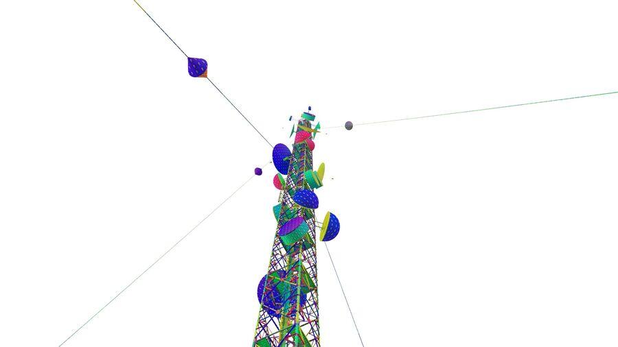 Radio Mast - Torre de Comunicação Antena royalty-free 3d model - Preview no. 30