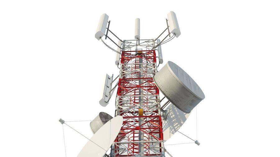Radio Mast - Torre de Comunicação Antena royalty-free 3d model - Preview no. 4