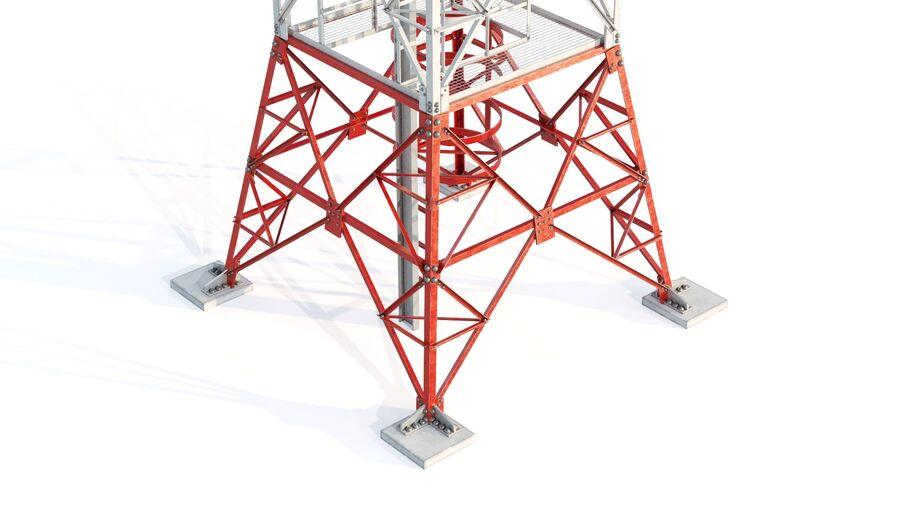 Radio Mast - Torre de Comunicação Antena royalty-free 3d model - Preview no. 6