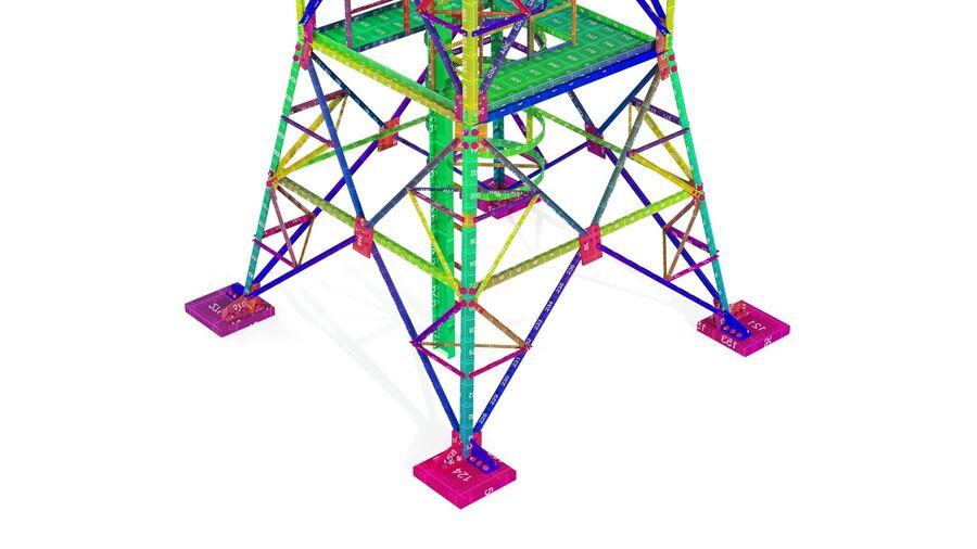 Radio Mast - Torre de Comunicação Antena royalty-free 3d model - Preview no. 24