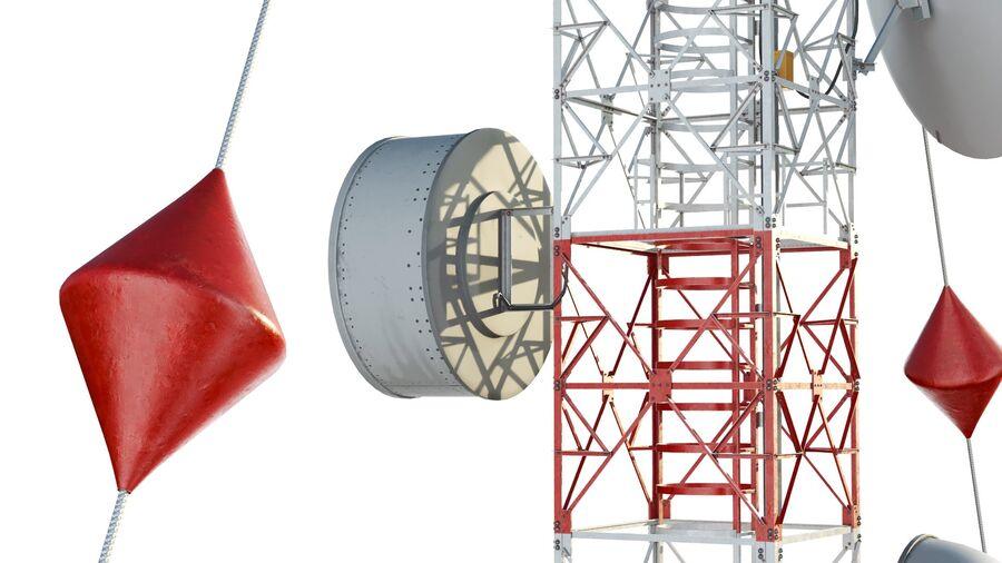 Radio Mast - Torre de Comunicação Antena royalty-free 3d model - Preview no. 10