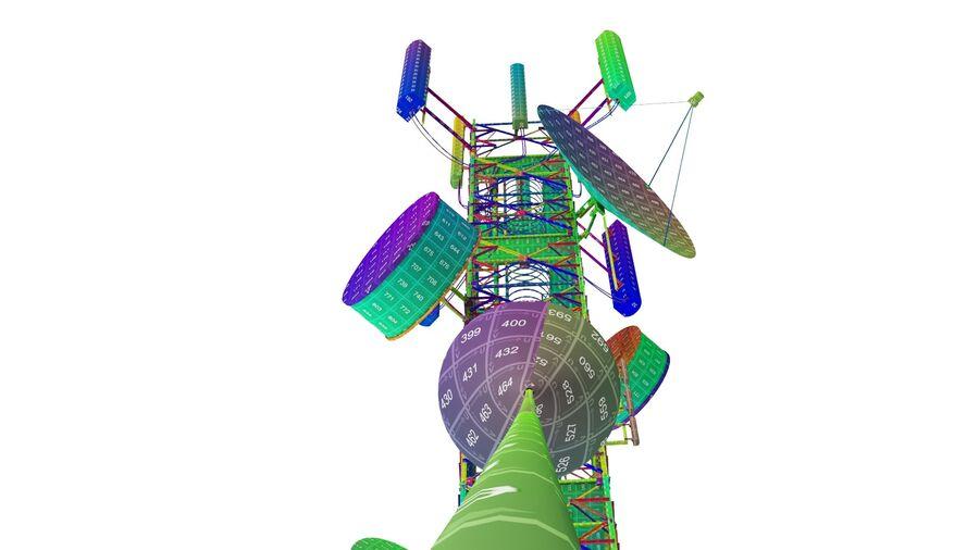 Radio Mast - Torre de Comunicação Antena royalty-free 3d model - Preview no. 25