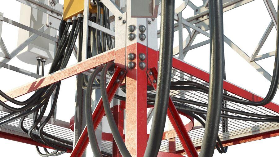 Radio Mast - Torre de Comunicação Antena royalty-free 3d model - Preview no. 9