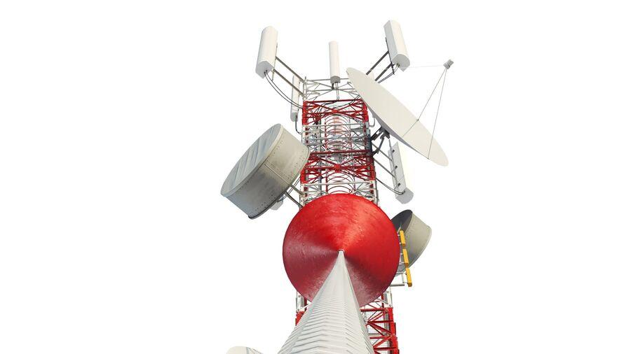 Radio Mast - Torre de Comunicação Antena royalty-free 3d model - Preview no. 7