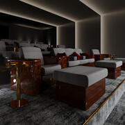 Home cinema 3d model