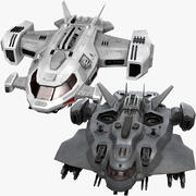 Sci Fi Dropships Collection 3d model