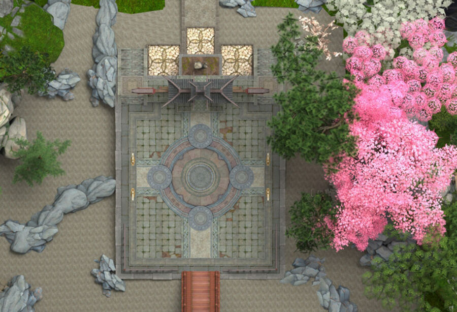 Ancient Asian architecture royalty-free 3d model - Preview no. 7