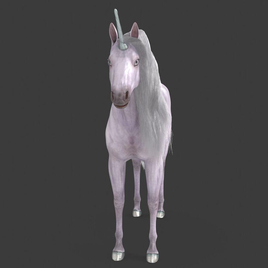 모피와 화이트 블랙 유니콘 royalty-free 3d model - Preview no. 7
