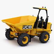 JCB 6T-1 Site Dumper Rigged 3d model