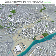 앨런 타운 시티 펜실베이니아 3d model