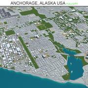Анкоридж-Сити на Аляске США 3d model