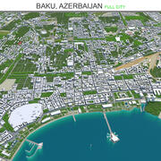 Baku City in Azerbaijan 3d model