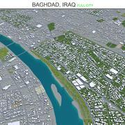 Baghdad City in Iraq 3d model