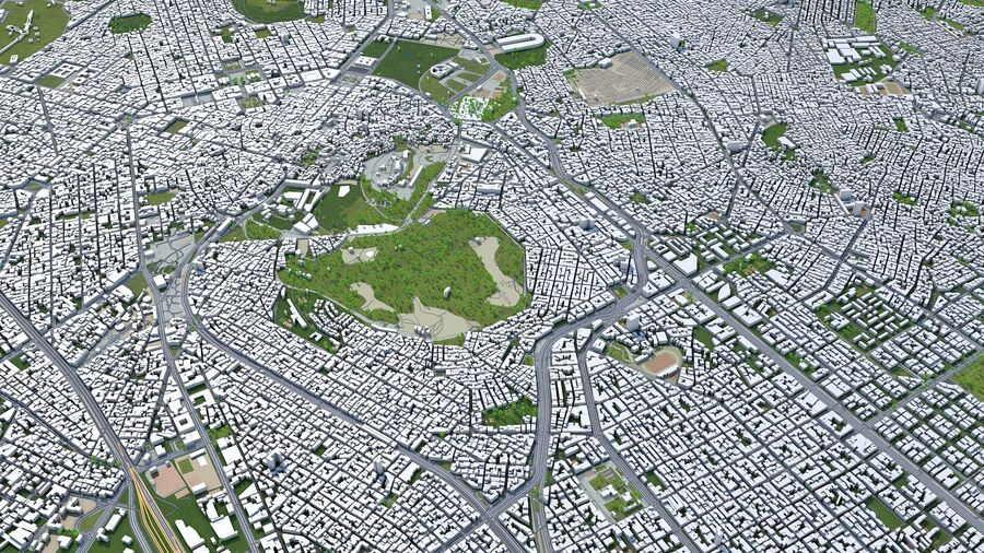 Athens City Greece royalty-free 3d model - Preview no. 9
