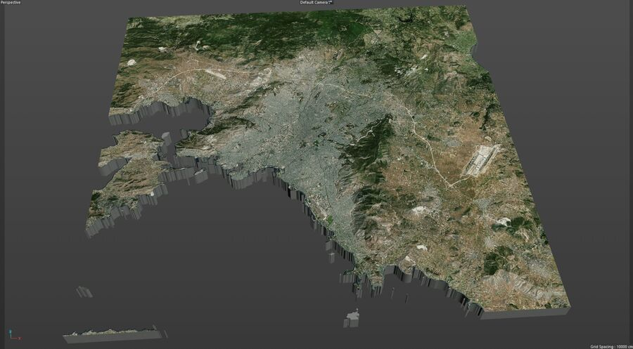 Athens City Greece royalty-free 3d model - Preview no. 18