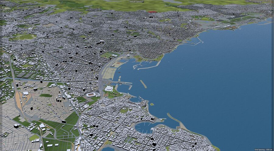 Athens City Greece royalty-free 3d model - Preview no. 22