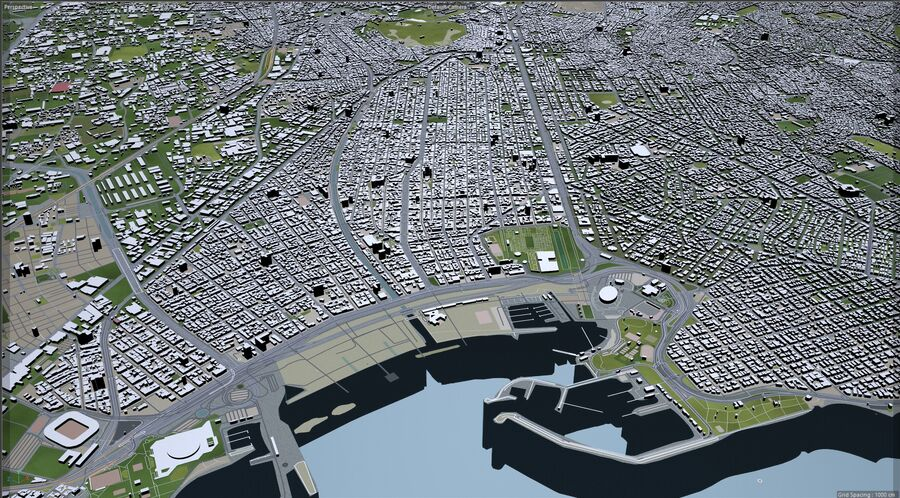 Athens City Greece royalty-free 3d model - Preview no. 12