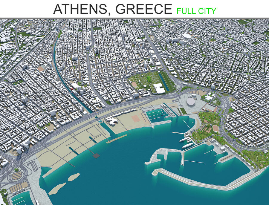 Athens City Greece royalty-free 3d model - Preview no. 25