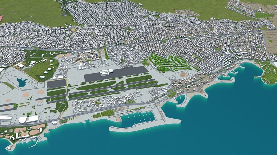 Athens City Greece royalty-free 3d model - Preview no. 8