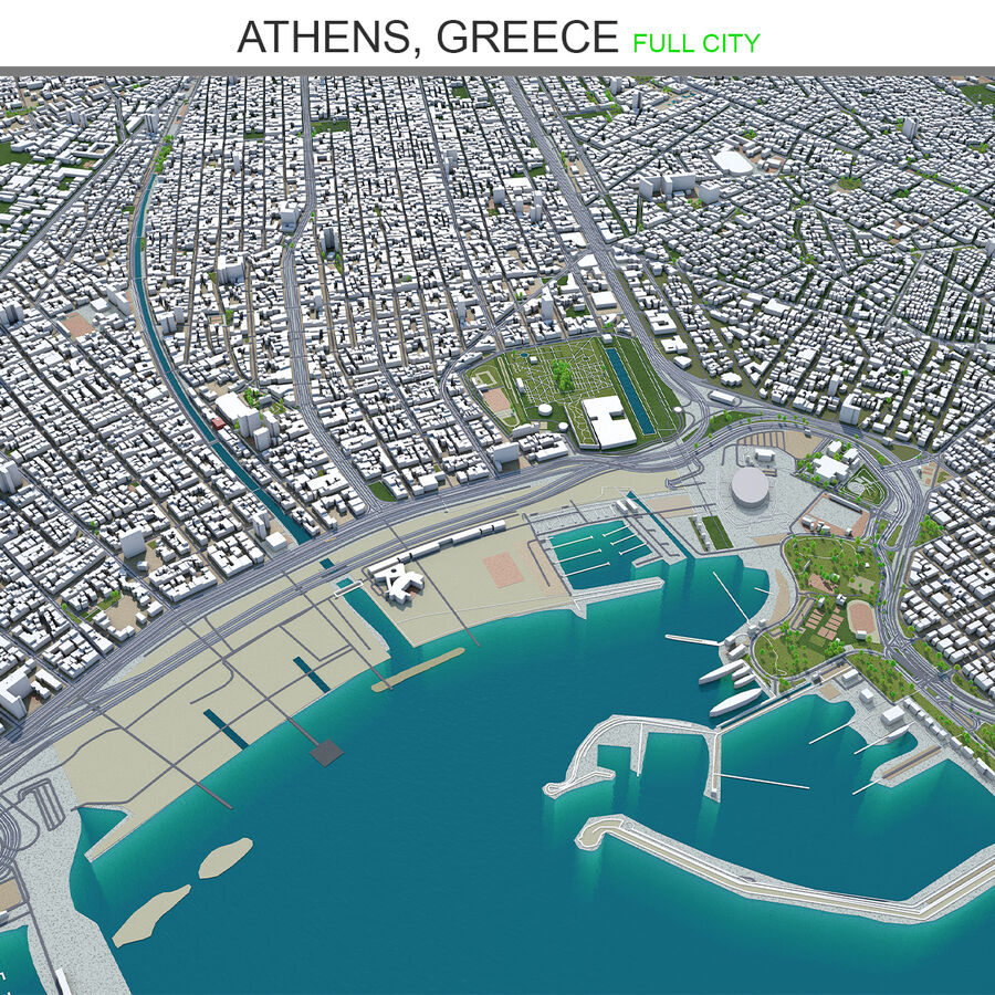 Athens City Greece royalty-free 3d model - Preview no. 1
