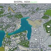 Bhopal City na Índia 3d model