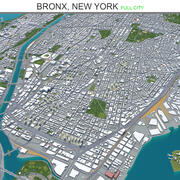 Bronx City New York 3d model
