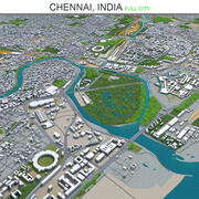 Chennai City India 3d model