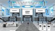虚拟电子会议大厅002 3d model