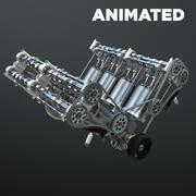 Motore V8 funzionante animato 3d model