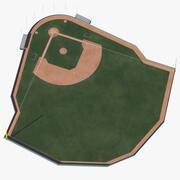 Baseball Field Wooden Wall 3d model