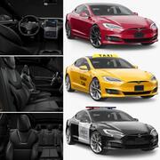 Tesla Model S P100D Set 3d model