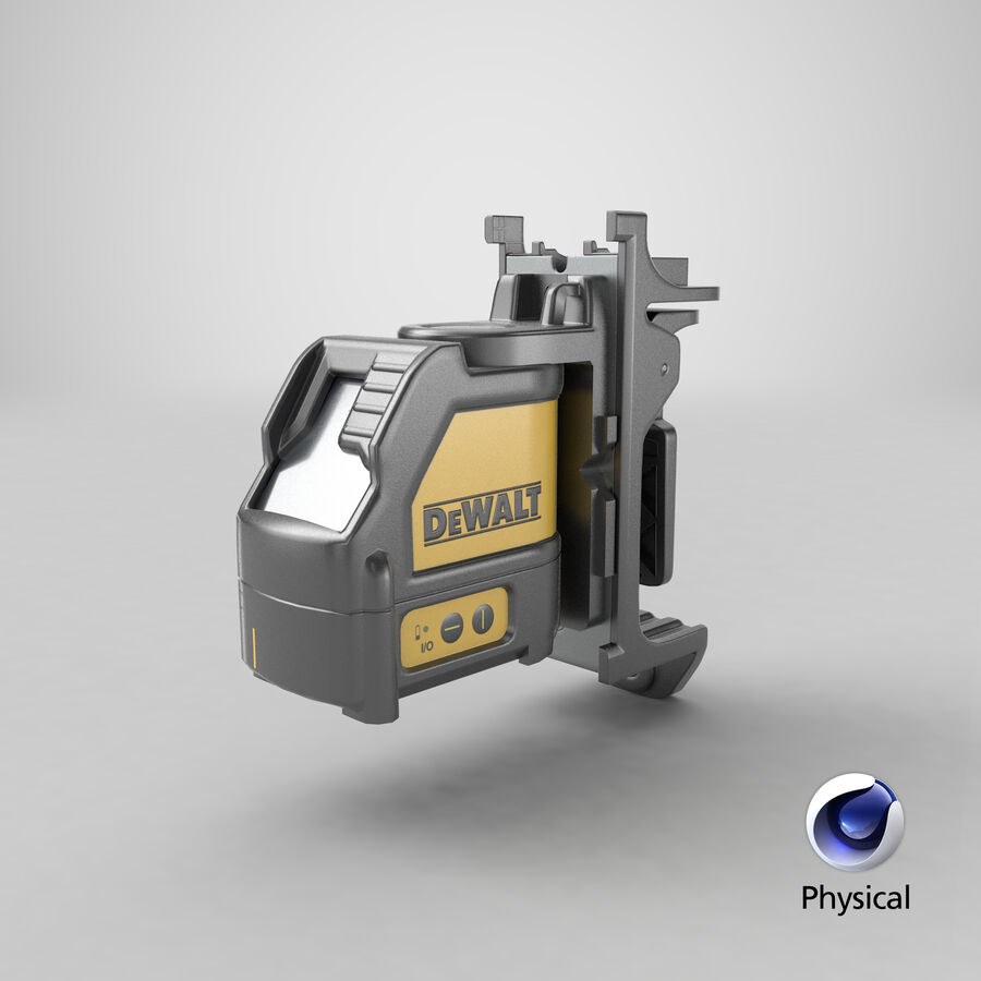 Livella laser a linee incrociate Dewalt DW088K royalty-free 3d model - Preview no. 15