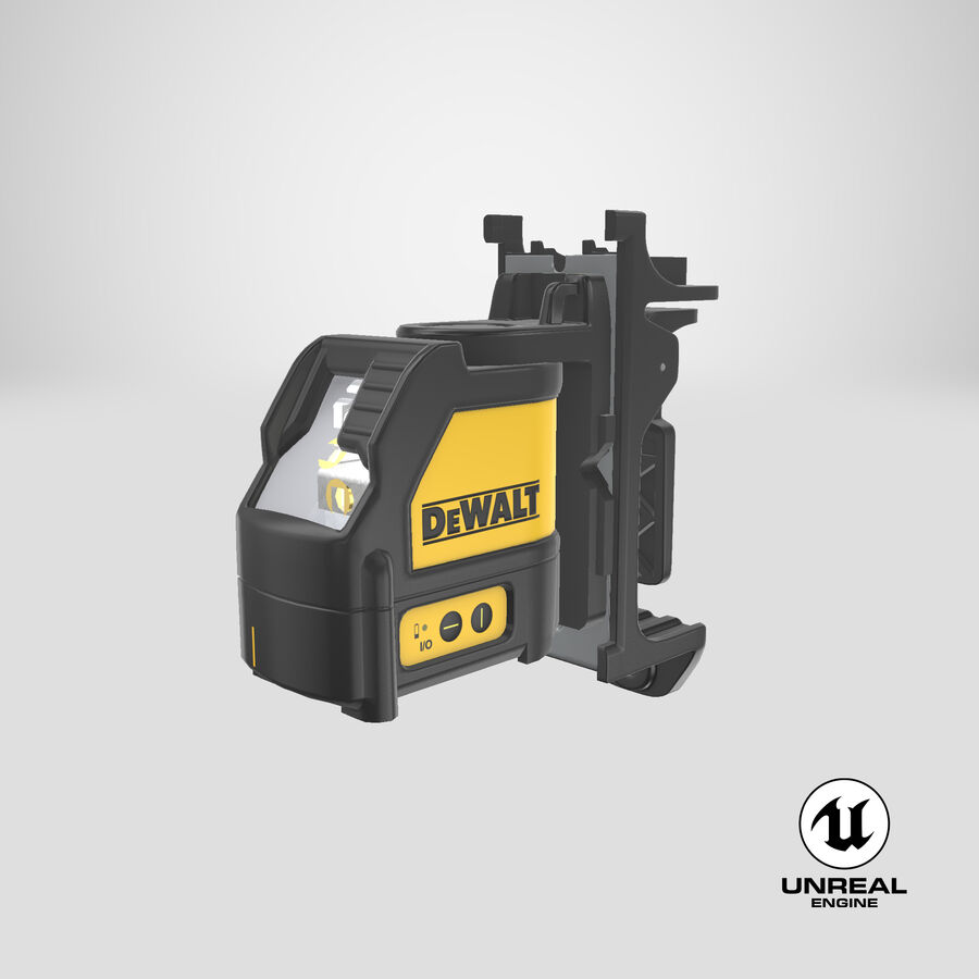 Livella laser a linee incrociate Dewalt DW088K royalty-free 3d model - Preview no. 18