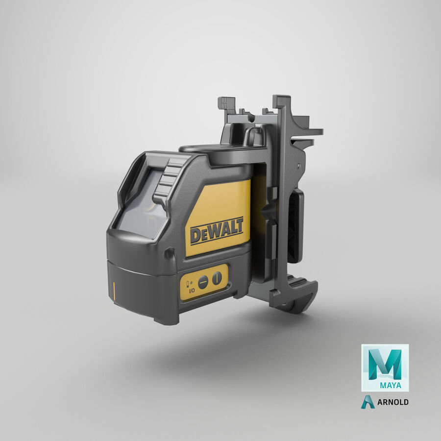 Livella laser a linee incrociate Dewalt DW088K royalty-free 3d model - Preview no. 22