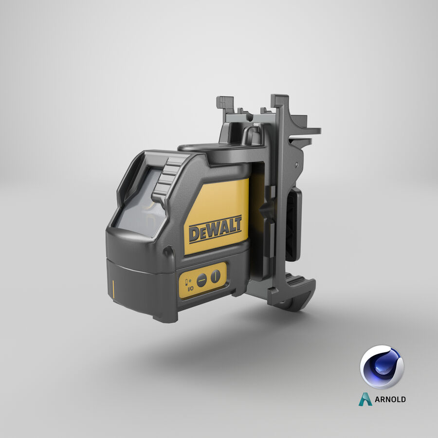 Livella laser a linee incrociate Dewalt DW088K royalty-free 3d model - Preview no. 16