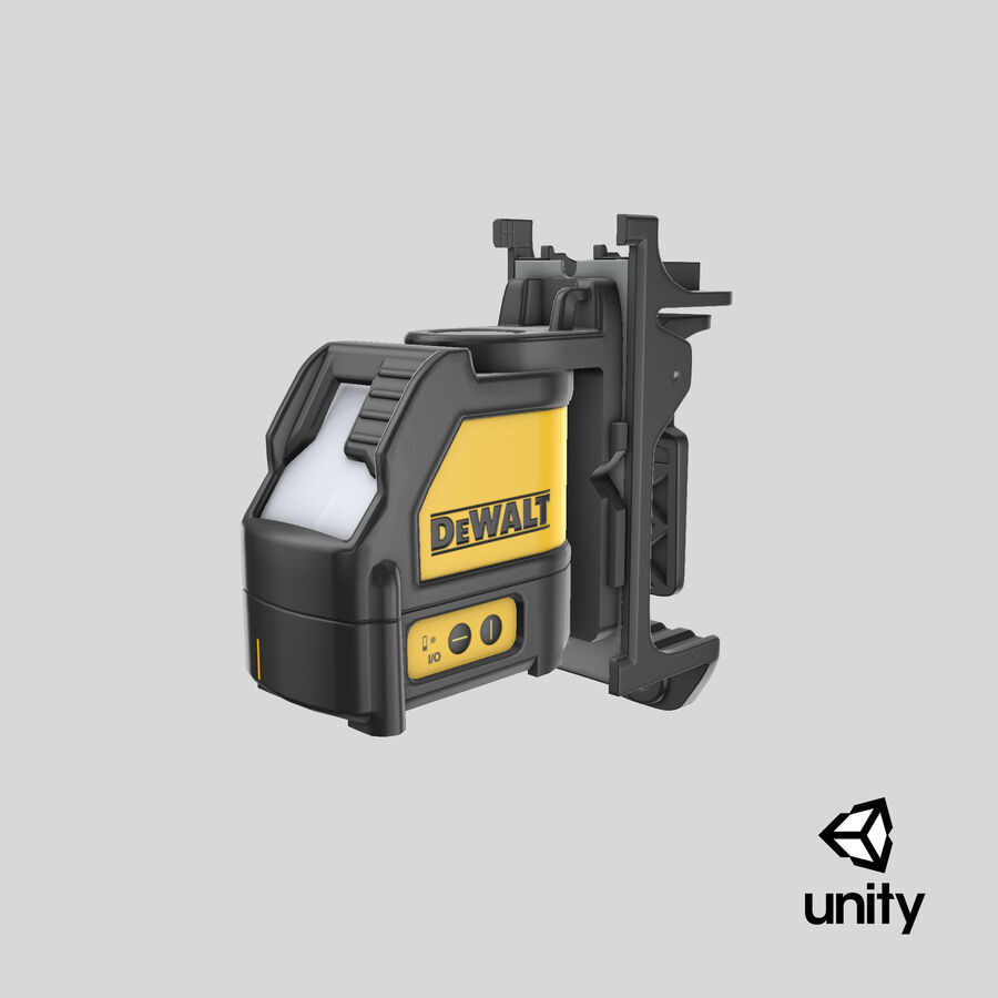 Livella laser a linee incrociate Dewalt DW088K royalty-free 3d model - Preview no. 17