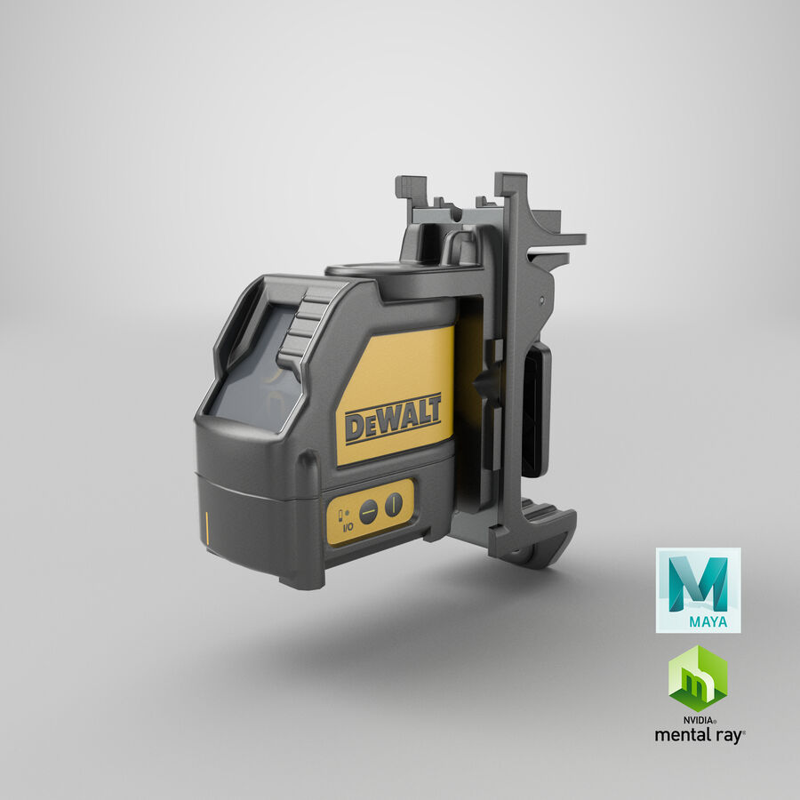 Livella laser a linee incrociate Dewalt DW088K royalty-free 3d model - Preview no. 23