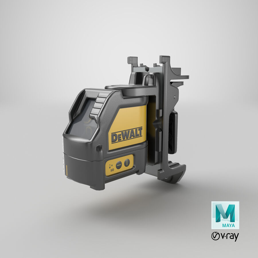 Livella laser a linee incrociate Dewalt DW088K royalty-free 3d model - Preview no. 24