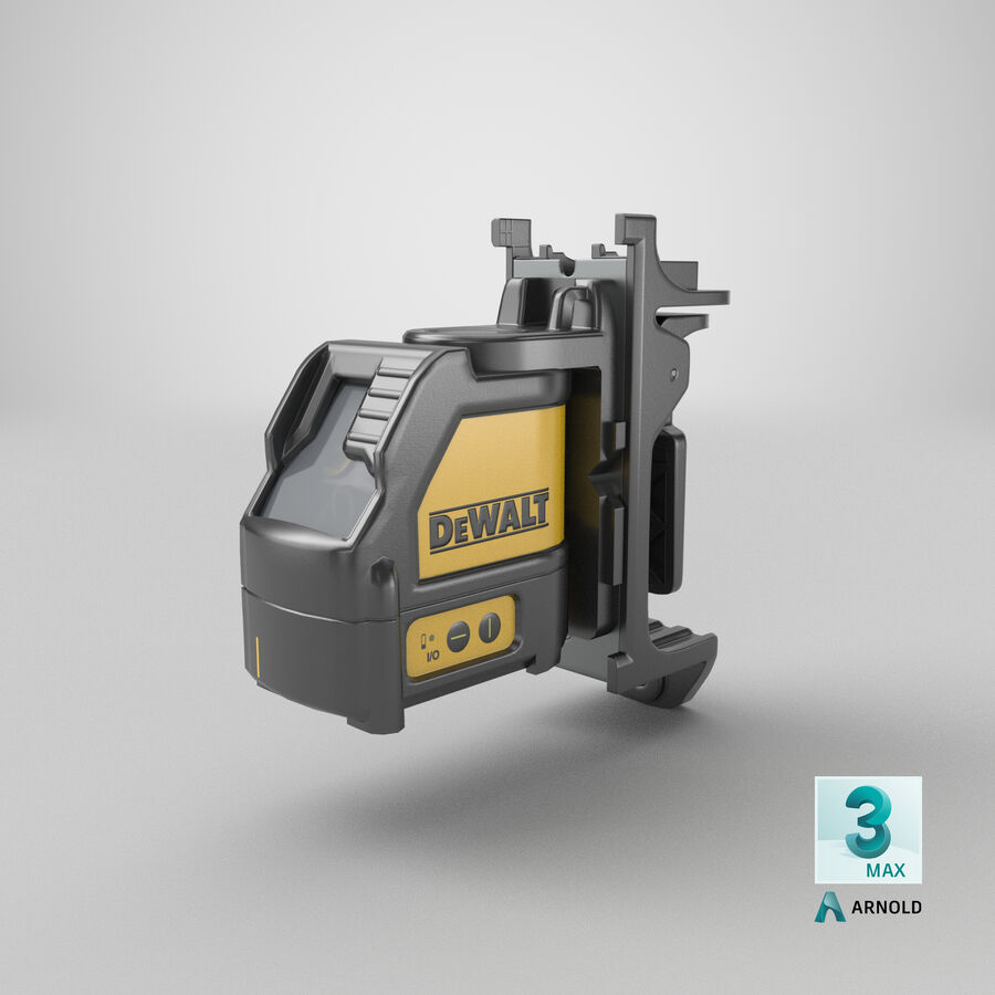 Livella laser a linee incrociate Dewalt DW088K royalty-free 3d model - Preview no. 19