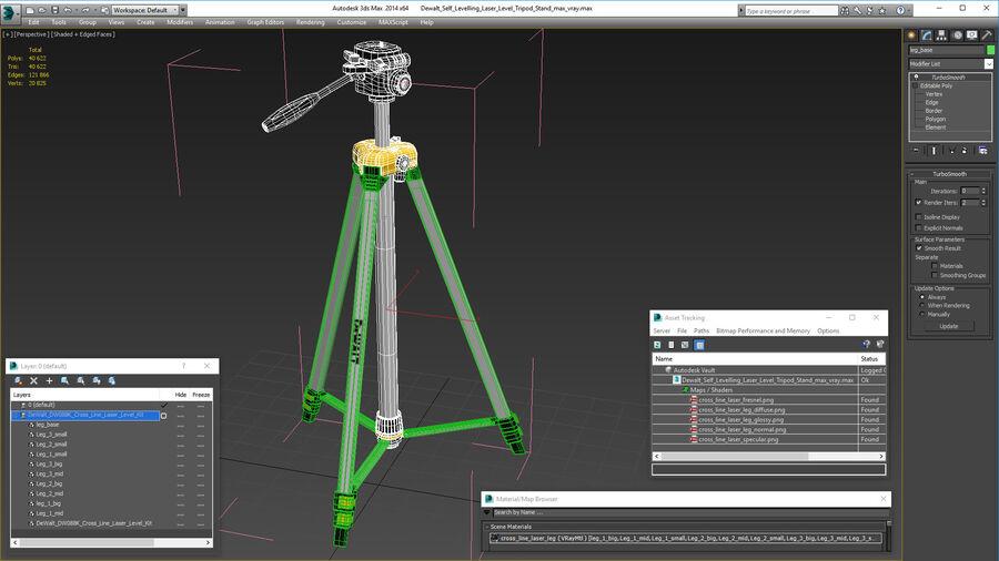 Statyw z samopoziomującym statywem laserowym Dewalt royalty-free 3d model - Preview no. 21