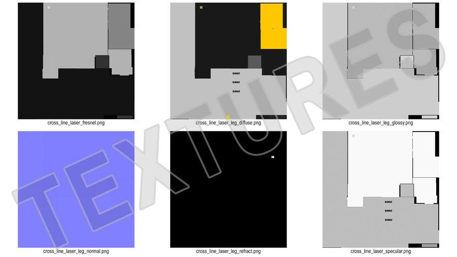 Statyw z samopoziomującym statywem laserowym Dewalt royalty-free 3d model - Preview no. 20
