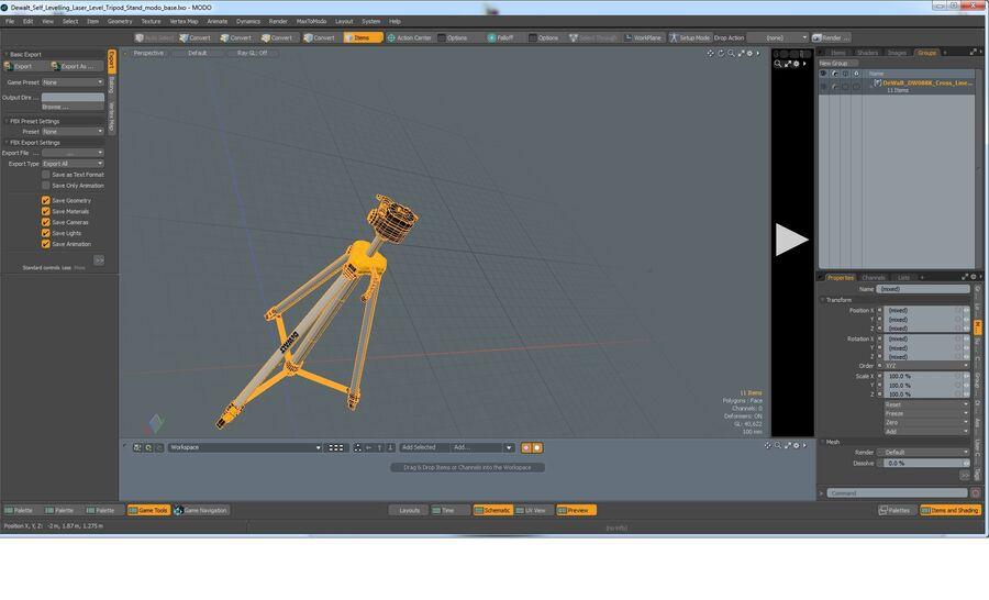 Statyw z samopoziomującym statywem laserowym Dewalt royalty-free 3d model - Preview no. 13