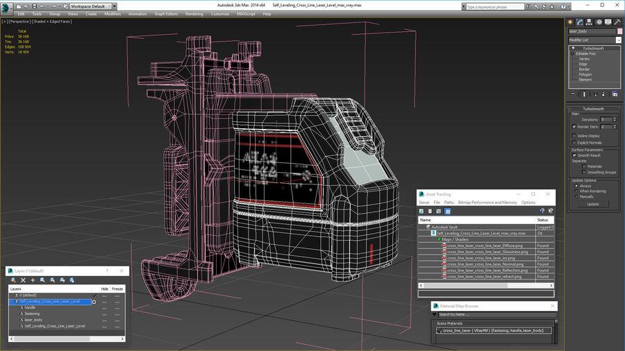 Livello laser a croce autolivellante royalty-free 3d model - Preview no. 26