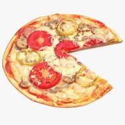 Pizza sin una rebanada modelo 3d